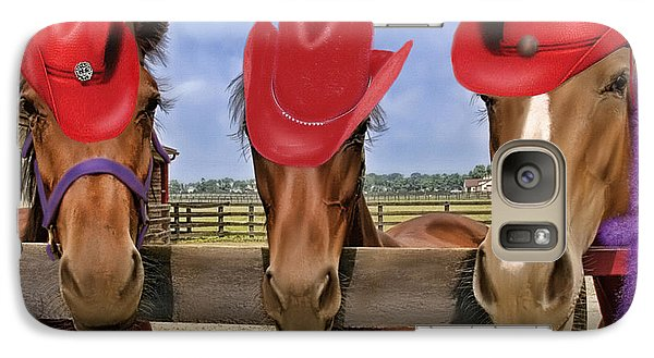 Galaxy Case featuring the photograph Red Hat Ladies by Sami Martin