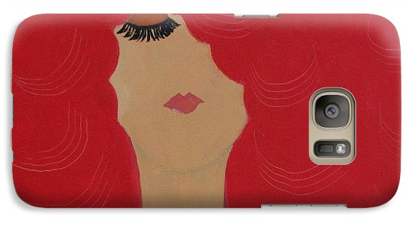 Galaxy Case featuring the painting Red Head by Anita Lewis