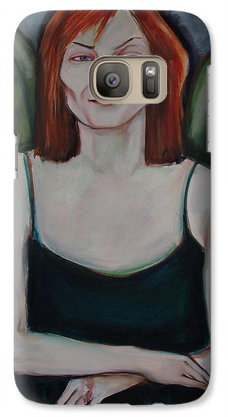 Galaxy Case featuring the painting Red-headed Angel by Irena Mohr