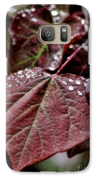 Red Heart Galaxy S7 Case by Peggy Hughes