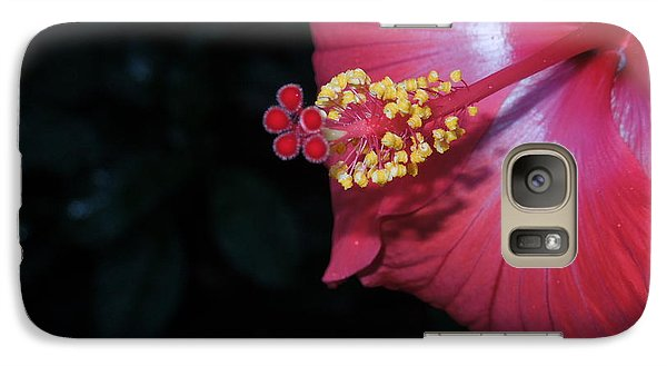 Galaxy Case featuring the photograph Red Hibiscus by Ron Davidson