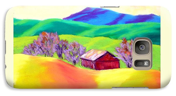 Galaxy Case featuring the painting Red Hill Barn by Nancy Jolley