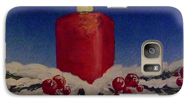 Galaxy Case featuring the painting Red Holiday Candle by Darren Robinson