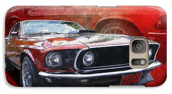Galaxy Case featuring the photograph  Boss Mustang by Kenneth De Tore