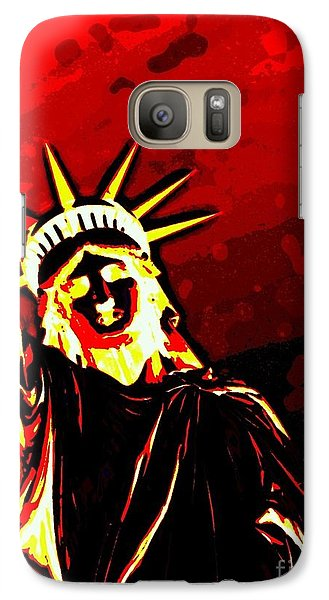 Galaxy Case featuring the photograph Red Hot Liberty by Andy Heavens