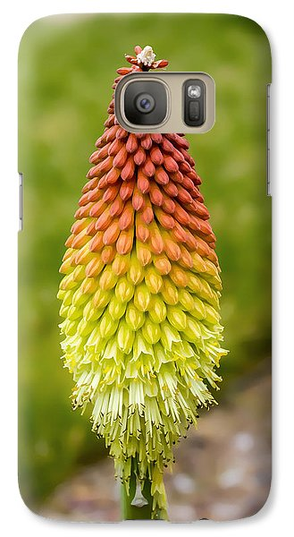Galaxy Case featuring the digital art Red Hot Poker by Photographic Art by Russel Ray Photos