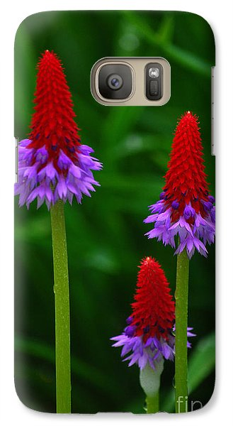 Galaxy Case featuring the photograph Red Hot Pokers by Cynthia Lagoudakis