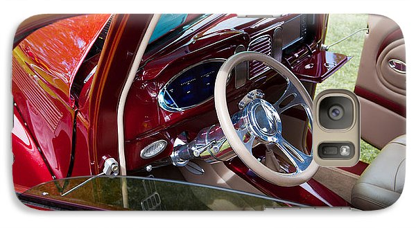 Galaxy Case featuring the photograph Red Hot Rod Interior by Mick Flynn