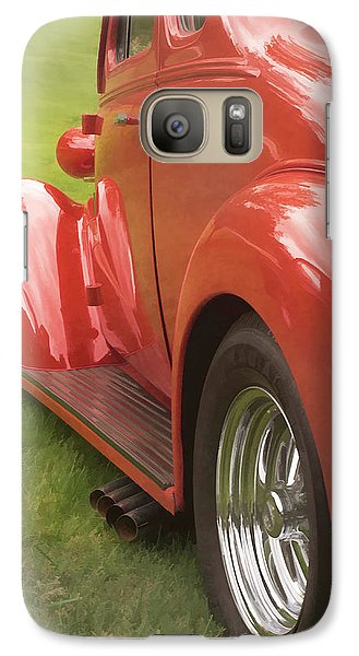 Galaxy Case featuring the photograph Red Hot Rod by Wayne Meyer