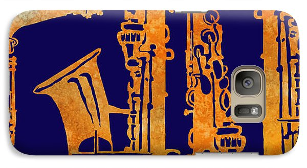 Saxophone Galaxy S7 Case - Red Hot Sax Keys by Jenny Armitage