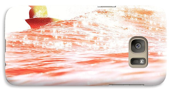 Galaxy Case featuring the photograph Red Hot Surfer by Paul Topp