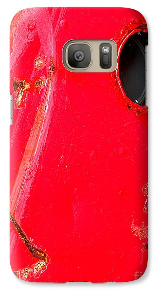 Galaxy Case featuring the photograph Red Hull by Robert Riordan