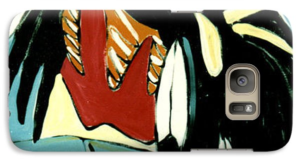 Galaxy Case featuring the painting Red Indian by Lance Headlee