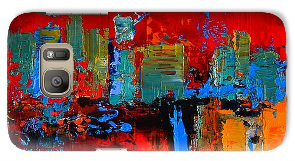 Galaxy Case featuring the painting Red Inspiration by Elise Palmigiani