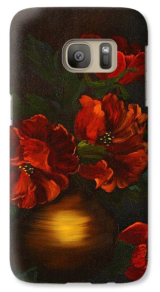 Galaxy Case featuring the painting Red Is My Color by J Cheyenne Howell