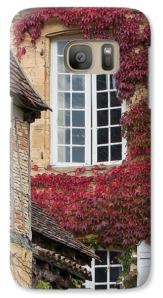 Galaxy Case featuring the photograph Red Ivy Window by Paul Topp