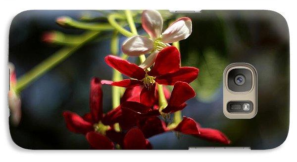 Galaxy Case featuring the photograph Red Jasmine Blossom by Ramabhadran Thirupattur