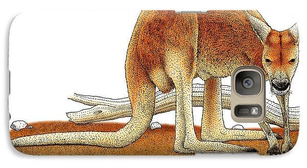Red Kangaroo Galaxy S7 Case
