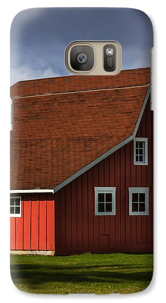 Galaxy Case featuring the photograph Red Kirsop Barn by Jean OKeeffe Macro Abundance Art