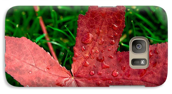 Galaxy Case featuring the photograph Red Leaf by Crystal Hoeveler