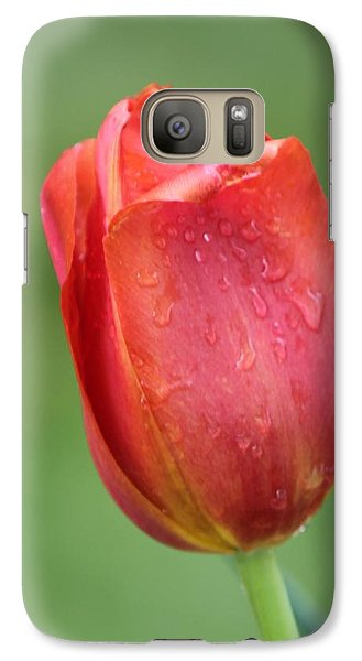 Galaxy Case featuring the photograph Red Leaner by Bill Woodstock