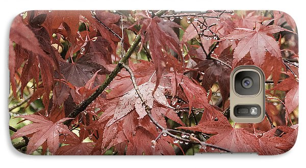 Galaxy Case featuring the photograph Red Leaves In Fall by Michael Canning