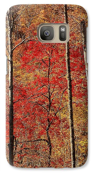 Galaxy Case featuring the photograph Red Leaves by Patrick Shupert
