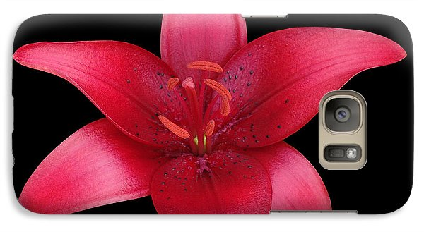 Galaxy Case featuring the photograph Red Lily by Judy Whitton