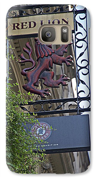 Galaxy Case featuring the photograph Red Lion Pub by Cheri Randolph