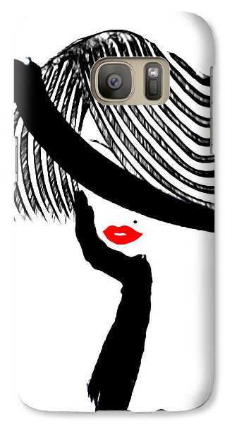 Galaxy Case featuring the painting Red Lips by Rafael Salazar