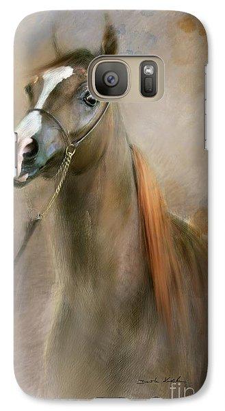 Galaxy Case featuring the digital art Red Mane by Dorota Kudyba