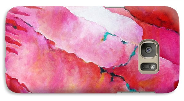 Galaxy Case featuring the painting Red Medley by Angela Treat Lyon