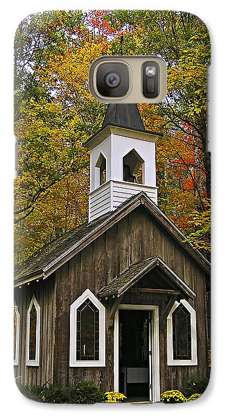Galaxy Case featuring the photograph Red Mill Chapel by Judy  Johnson