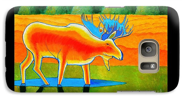 Galaxy Case featuring the painting Red Moose by Joseph J Stevens