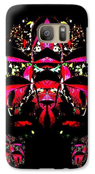 Galaxy Case featuring the digital art Red Mosaic by Aliceann Carlton