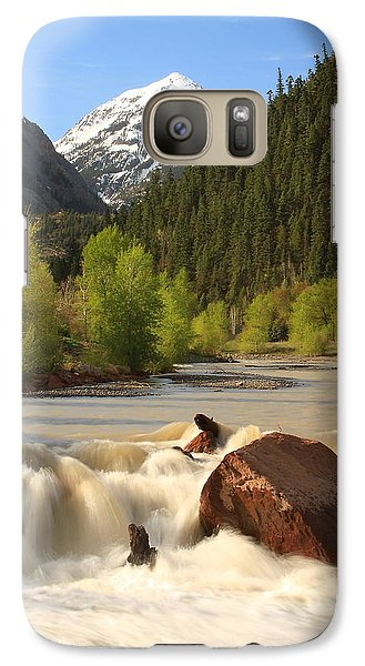 Galaxy Case featuring the photograph Red Mountain Snowmelt by Scott Rackers