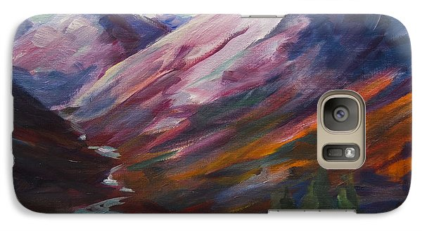 Red Mountain Surreal Mountain Lanscape Galaxy S7 Case