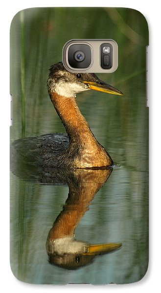 Galaxy Case featuring the photograph Red-necked Grebe by James Peterson