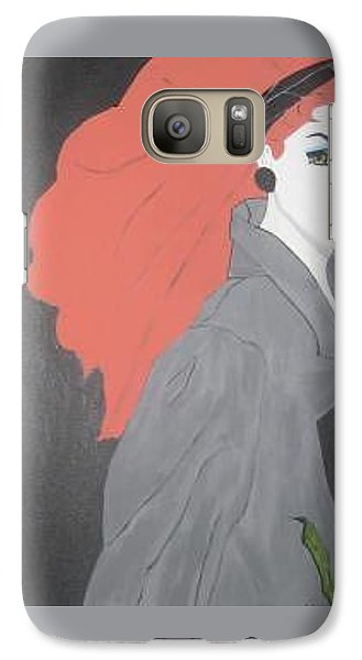Galaxy Case featuring the painting RED by Nora Shepley