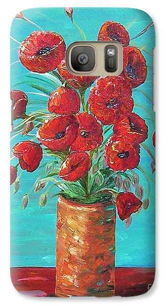 Galaxy Case featuring the painting Red On My Table  by Eloise Schneider