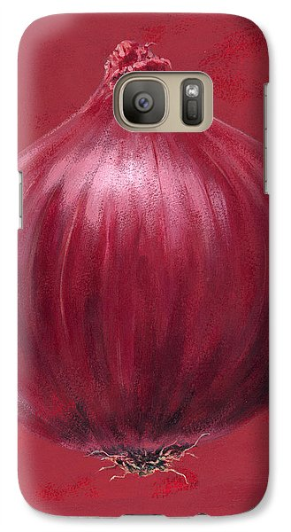 Red Onion Galaxy S7 Case by Brian James