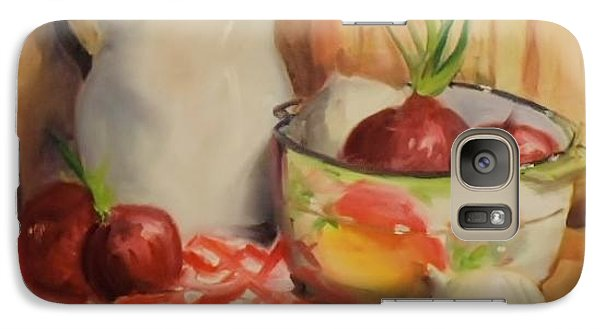 Galaxy Case featuring the painting Red Onions by Marcia Dutton