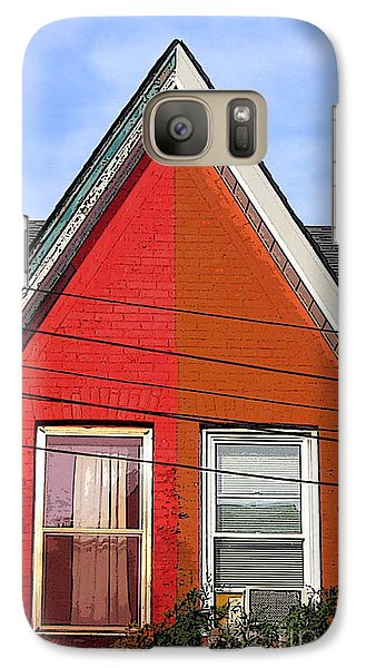 Galaxy Case featuring the photograph Red-orange House by Nina Silver