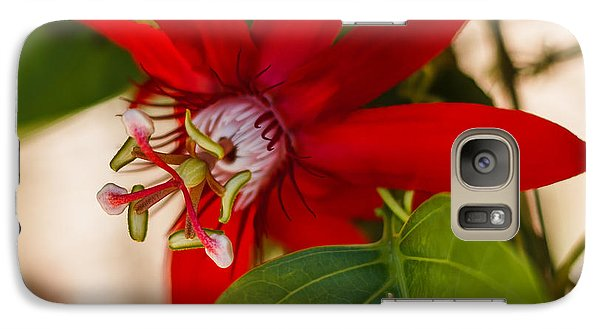 Galaxy Case featuring the photograph Red Passion Flower by Jane Luxton
