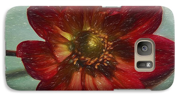 Galaxy Case featuring the digital art Red Petal Sketch by Terry Cork