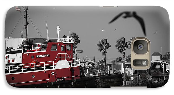 Galaxy Case featuring the photograph Red Pop Tugboat by Bartz Johnson