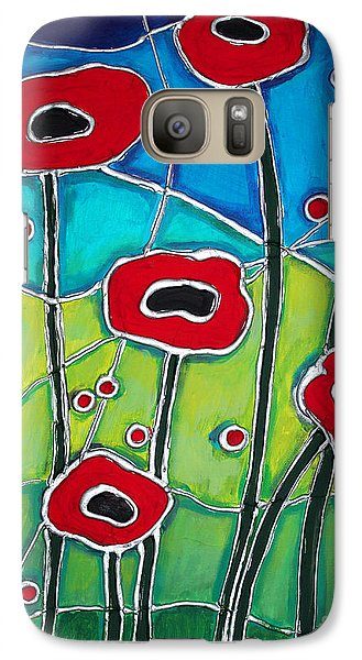 Galaxy Case featuring the painting Red Poppies 1 by Cynthia Snyder