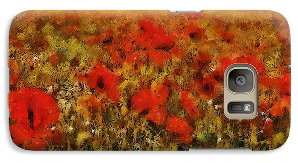 Galaxy Case featuring the painting Red Poppies by Georgi Dimitrov