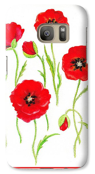 Red Poppies Galaxy S7 Case