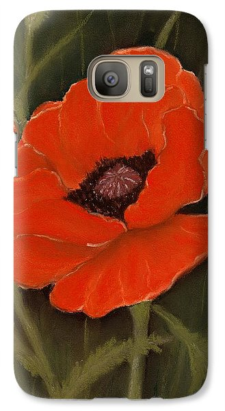 Red Poppy Galaxy S7 Case